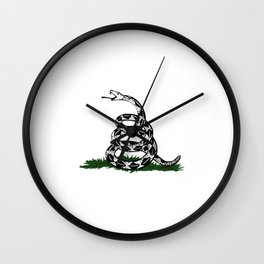 Gadsden Flag Snake Ready to Strike Wall Clock