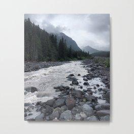 White River Misty Mountain Metal Print