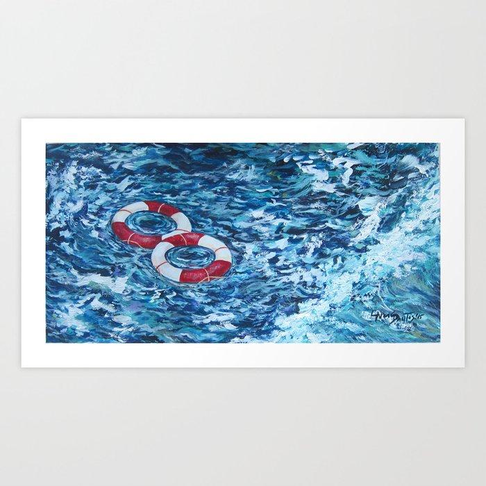 Two Lifesavers Art Print