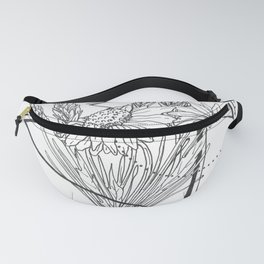Daisies and Lavender Fanny Pack