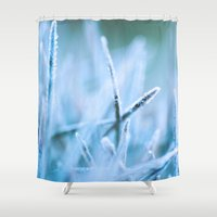 jack frost Shower Curtains featuring Frost by T M B