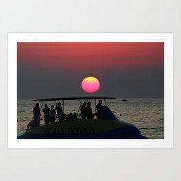 Croatian sunset- summer photo Art Print