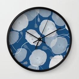 Monochromatic Poppies Wall Clock