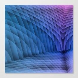 Geometric Path Blue-Pink Canvas Print