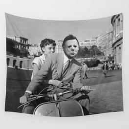 Michael Myers in Roman Holiday Wall Tapestry