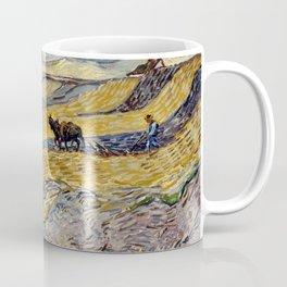Vincent van Gogh Enclosed Field with Ploughman Coffee Mug