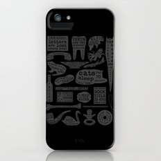 Useful Facts (On Black) iPhone (5, 5s) Slim Case