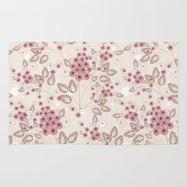 Delicate floral pattern. Rug