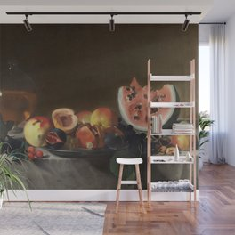 Pensionante del Saraceni - Still Life with Fruit and Carafe Wall Mural