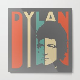Bob Dylan Retro Homage Metal Print