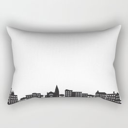 Park Slope Skyline (B&W) Rectangular Pillow