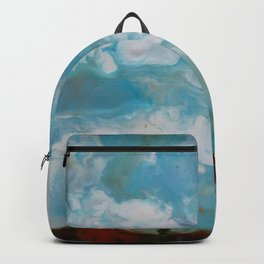 Cypress Trees encaustic wax painting by Seasons Kaz Sparks Backpack