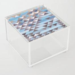 Triangle Pattern No.6 Crisp Blue Acrylic Box