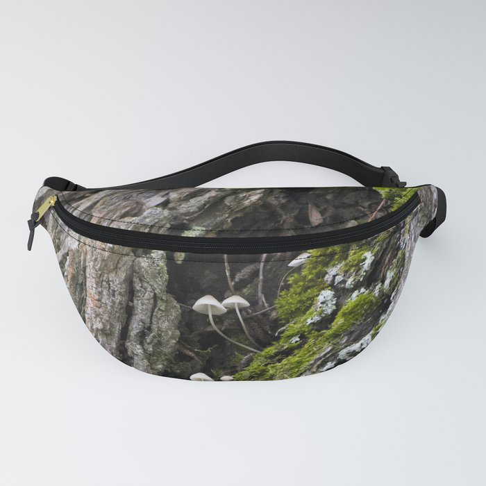 Tree trunk and mushrooms Fanny Pack