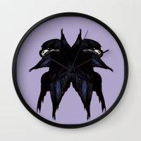 falcon Wall Clocks featuring Falcon by Daniella Walker