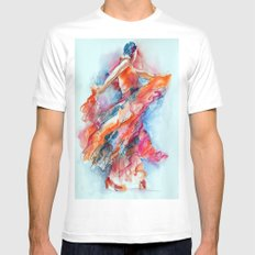 Allure of the Flamenco Mens Fitted Tee MEDIUM White