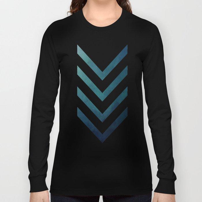 Blue Arrow Long Sleeve T-shirt