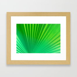 Palm Tree Leaf Framed Art Print
