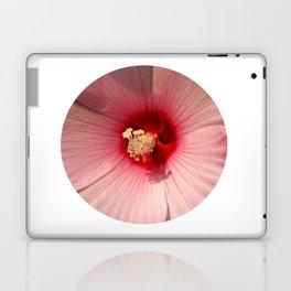 Pink Hibiscus Close-up Flower Photography Laptop & iPad Skin