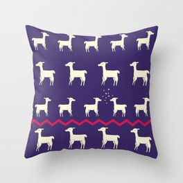 ALPACAS IN LOVE Throw Pillow
