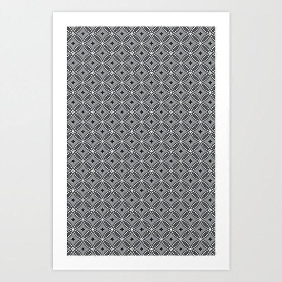 Diamonds in Smoke Art Print