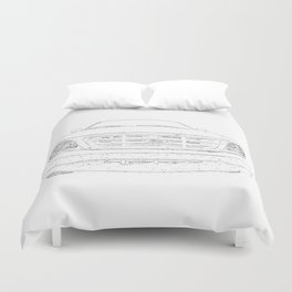 pickup truck drawing Duvet Cover