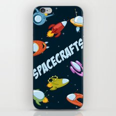 Spacecraft and rockets flying the stars iPhone Skin