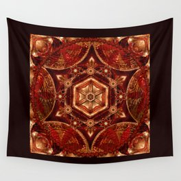 Meditation in Copper Wall Tapestry