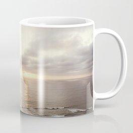 Neutral Sunset Pacific Ocean Photography, Brown Grey Seascape, California Coast Sea Landscape Coffee Mug