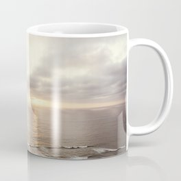 Neutral Sunset Pacific Ocean Photography, Brown Grey Seascape, California Coast Sea Landscape Coffee Mug