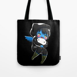 Fuzzy Chibi Luc (Expression 1) w/ Black Background Tote Bag