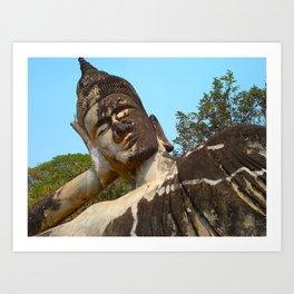 Napping Buddha  Art Print