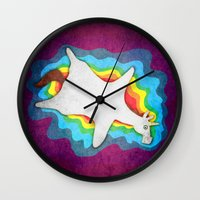 rug Wall Clocks featuring Unicorn Rug by That's So Unicorny