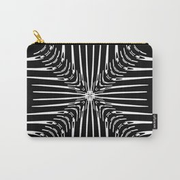Geometric Black and White Skeleton African-Inspired Pattern Carry-All Pouch