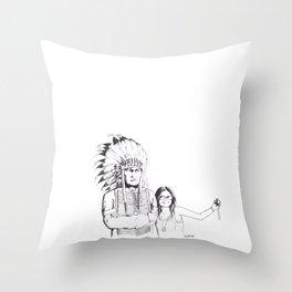 Please Smile Throw Pillow