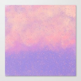 Lavender lilac pink artsy watercolor splatters Canvas Print
