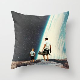 We will always Come Back here Throw Pillow