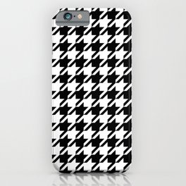 Houndstooth Large Classic Pattern iPhone Case