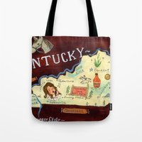 kentucky Tote Bags featuring Kentucky by Christiane Engel