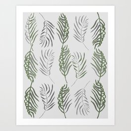 modern fronds Art Print