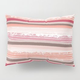 Liquorice- pale pink and white stripes Pillow Sham