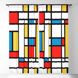 Tribute to Mondrian No2 Blackout Curtain