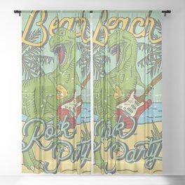 Beach Rock Party Sheer Curtain