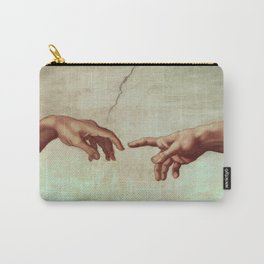 Michelangelo Buonarroti - Hands Of God And Adam Carry-All Pouch