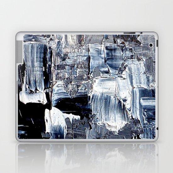 50 Shades... - black & white abstract painting Laptop & iPad Skin