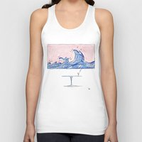 wine Tank Tops featuring Wine by liev