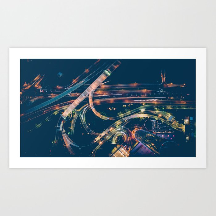 City in the sky fantastic Art Print
