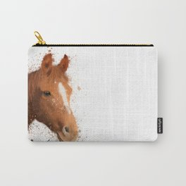 Brown and White Horse Carry-All Pouch