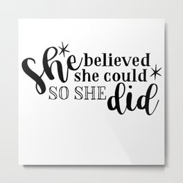 Girl Boss Women Quote Phrase Words Design 275 Metal Print