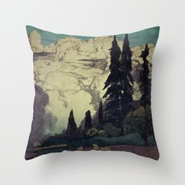 The Pending Storm at Hike Throw Pillow